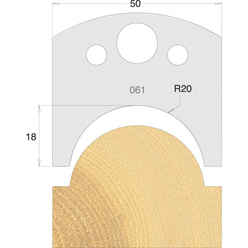 Euro Profile Cutters HSS 50mm Pair No. 061