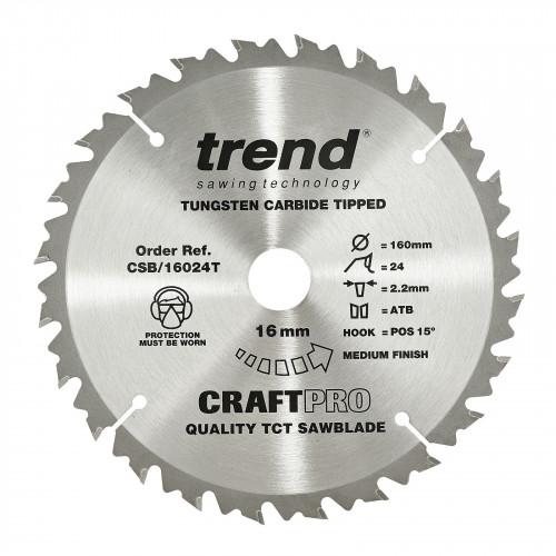 Cordless Trim Saw Blade TCT 165mm Diameter × 40T × 20mm Bore