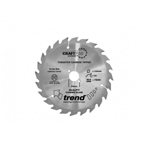 Nail Cutting Saw Blade TCT 184mm Diameter × 30T × 30mm Bore