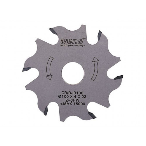 Biscuit Jointer Blade TCT 100mm Diameter × 6T × 22mm Bore
