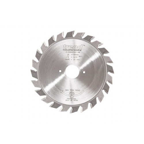 Split Scorer TCT Blade 100mm Diameter × 2mm × 12T × 20mm Bore