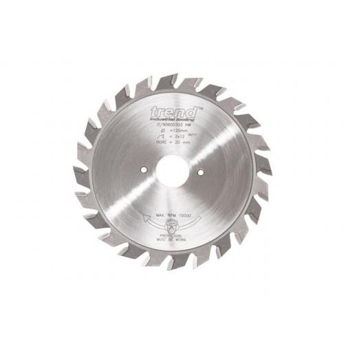 Split Scorer TCT Blade 100mm Diameter × 2mm × 12T × 20mm Bore