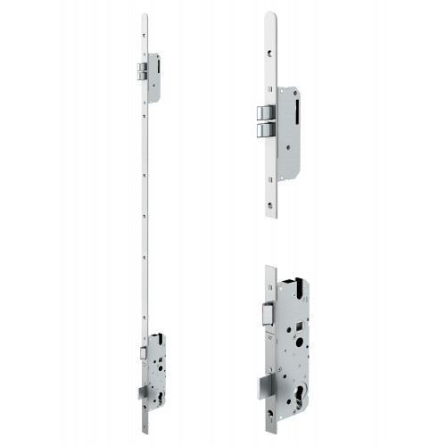 Reliance D10 twin deadbolt multipoint lock, 45mm backset c/w non adjsutable keeps for upto 56mm doors