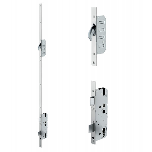 Reliance D20 hookbolt multipoint lock, LH, 45mm backset c/w adjsutable keeps for upto 44mm doors