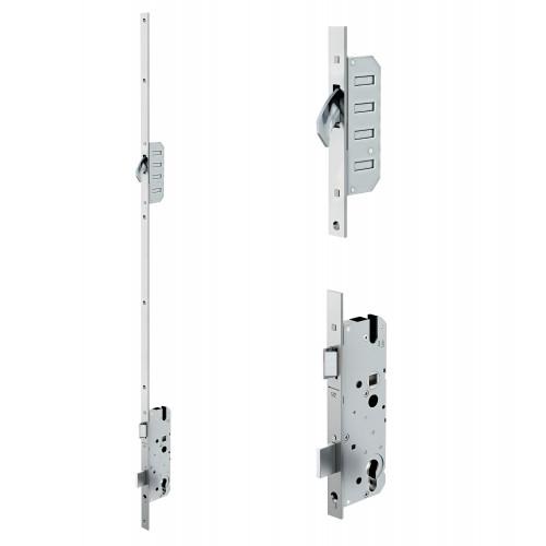 Reliance D20 hookbolt multipoint lock, LH, 45mm backset c/w adjsutable keeps for upto 44mm doors