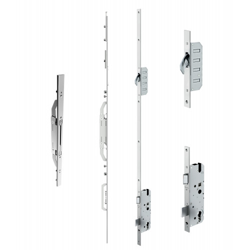 Reliance D41 double door hookbolt multipoint lock, LH, 45mm backset c/w adjsutable keeps for top and bottom shootbolts for 1853 - 1996mm high doors