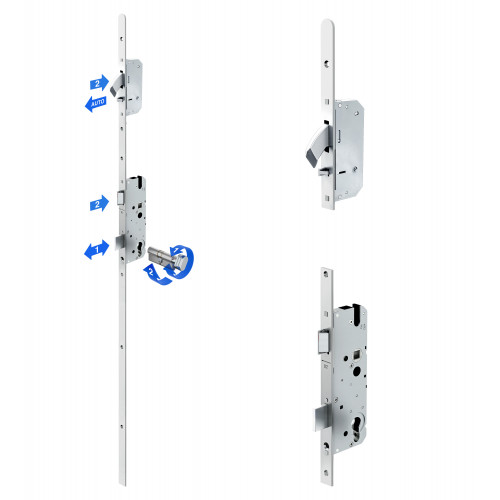 Reliance D50 heritage style, hooklock, autolocking multipoint lock, LH, 45mm backset c/w adjsutable keeps for upto 44mm doors