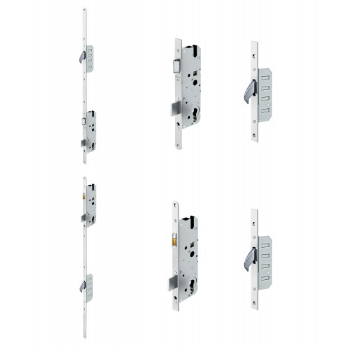 Reliance D60 hookbolt, stable door multipoint lock, 45mm backset c/w non-adjustable keeps for upto 56mm doors