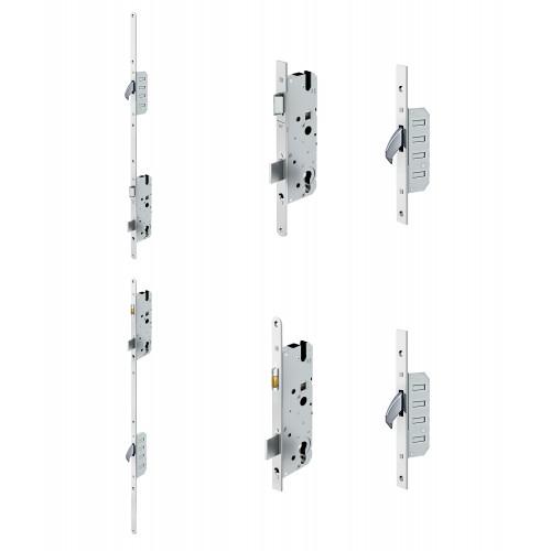 Reliance D60 hookbolt, stable door multipoint lock, 45mm backset c/w non-adjustable keeps for upto 56mm doors