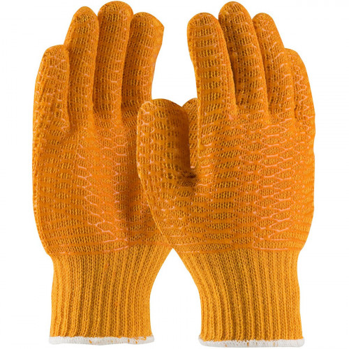 Gripper Gloves Orange PVC Criss Cross Pair