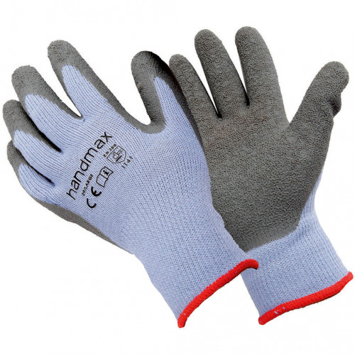 Thermal Grip Gloves Grey Lined Large