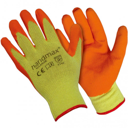 Gloves Orange Builder Grip Style Large