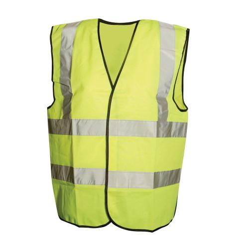 Hi-Vis Yellow Waistcoat Class 2 Large