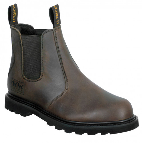 Leather Dealer Boots Woodworld Brown Crazy Horse Size 10