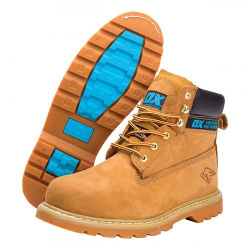 Ox Safety Boots Nubuck Size 8