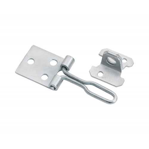 Hasp & Staple Wire Pattern BZP 75mm