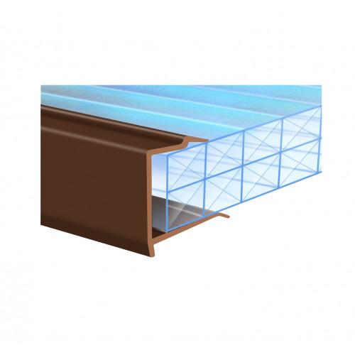 Capex Sheet End Closure PVC  Brown  20mm × 2.1m