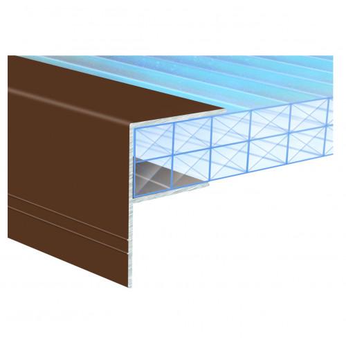 Capex Sheet End Closure Aluminium F Section Grey   25mm × 4.0m