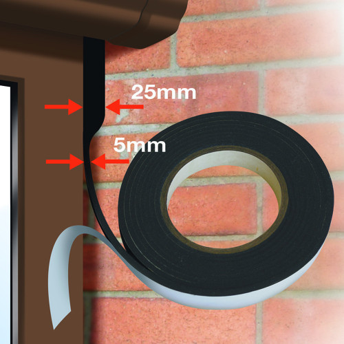 Expanding Foam Tape Expandex , Black  15mm × 6.6m