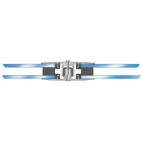 Horizontal Glazing Bar Self Supporting  White  16-24mm  3m
