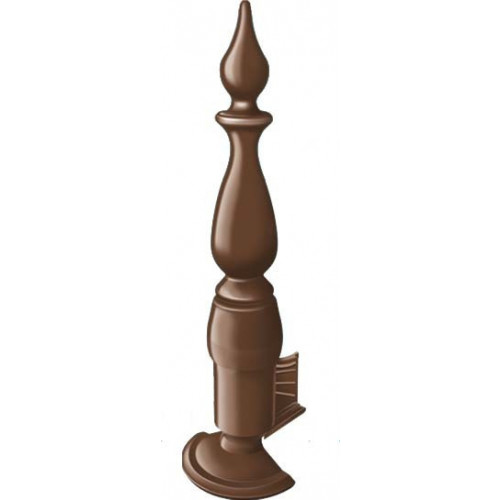 Crestfinex Fleur De Lys Finial Polymer  Brown  350mm