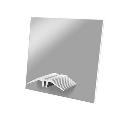 Cresfinex Aluminium Wall End Cap For MK2 Ridge Bar  Mill