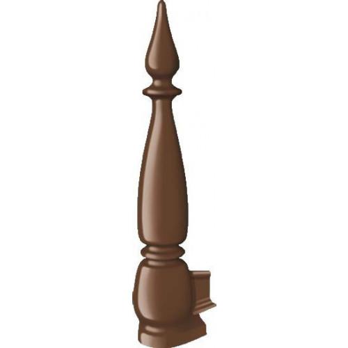 Crestfinex Fleur De Lys Finial Cast Aluminium  Brown  350mm