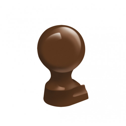 Crestfinex Ball Finial Slide In Cast Aluminium  Brown  80mm