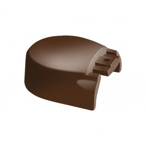 Crestfinex End Cap Cast Aluminium For MK2 Ridge Bar  Brown