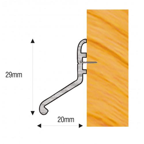 Rain Deflector 20 914mm Mill Aluminium