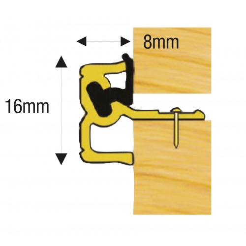 Double Door Centre Seal Milled Aluminium 2.4m