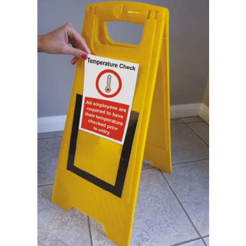 Floor stand with interchangable sign holder