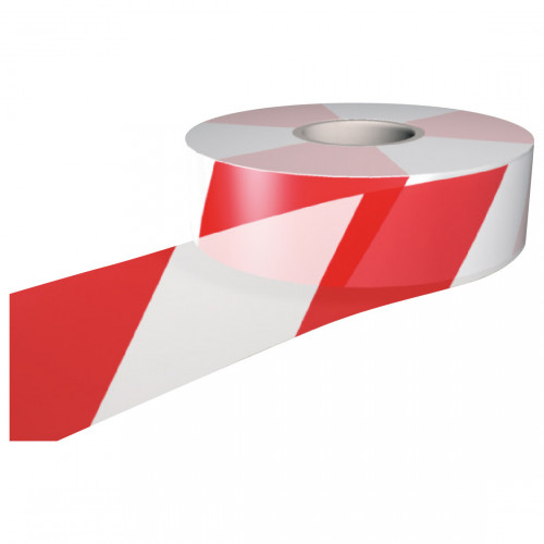Barrier tape Red/White  75mm x 250m
