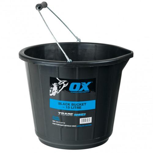 Ox Trade Black Bucket 15 Litre
