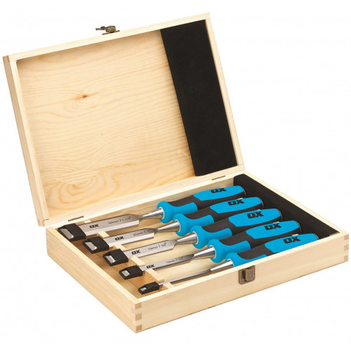 Ox Pro Wood Chisel Set 5pc