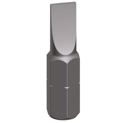 Screwdriver Bit Slotted Grey 4.0mm × 25mm