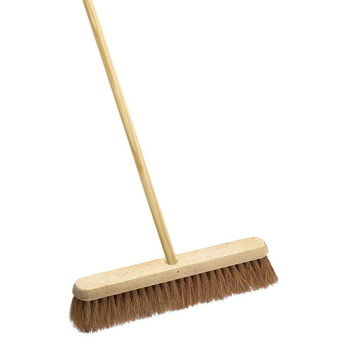 Broom Natural Coco Brush & Handle 305mm