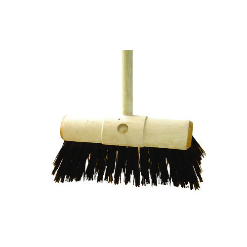 "Yard Broom Scavenger Brush 13"" c/w Handle"