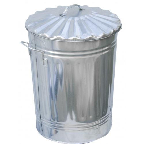 "Dustbin & Lid Galvanised 24"" × 18"""