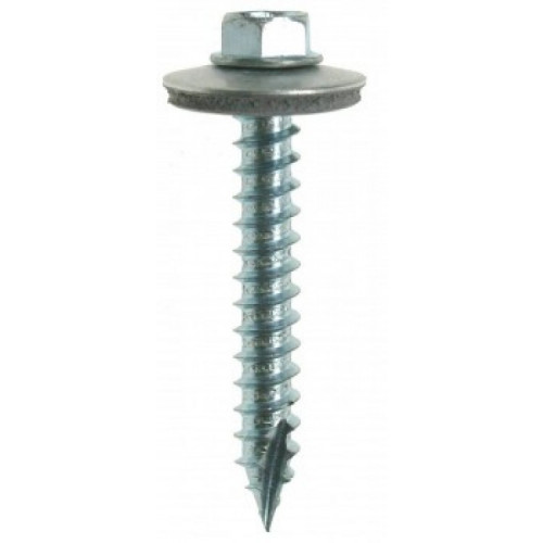 Self Drilling Screw Hex/Washer Steel/Timber  BZP 6.3 × 45mm