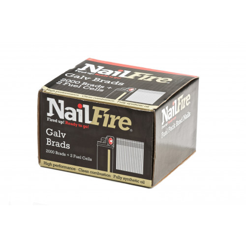 Nailfire Galv Straight Brad Nails And Gas 16G  25mm 2000pk