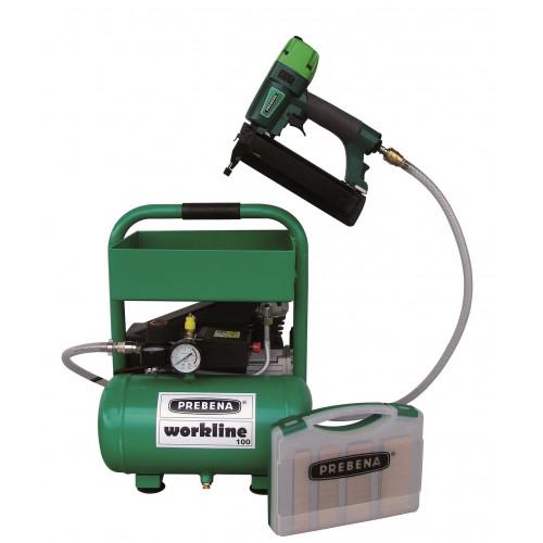 Prebena Workline Air Brad Nailer & Compressor Kit
