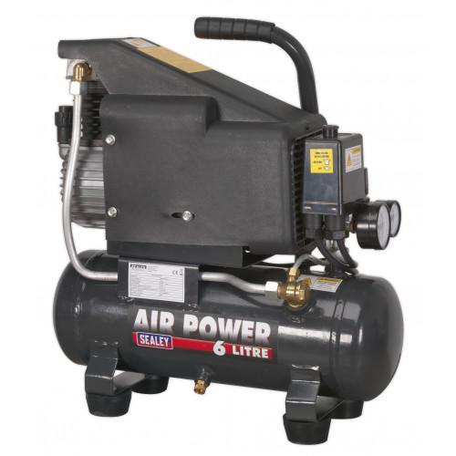 Air Compressor 1 HP 8 Bar 6L Portable 240V