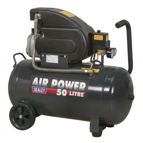 Air Compressor Wheeled 2Hp 50L Tank 240V