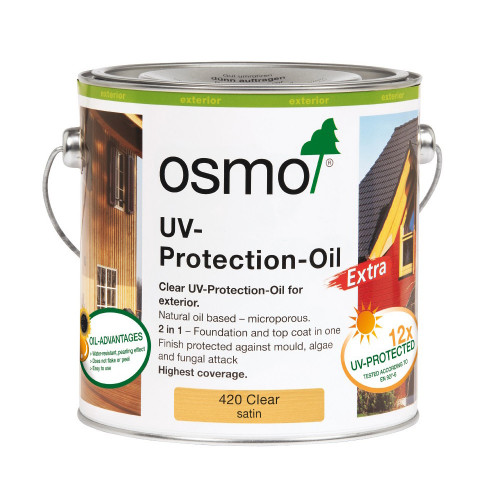 Osmo UV Protection Oil Clear Satin 0.75L