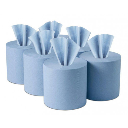Paper Roll Centre Feed 210mm × 180m Blue