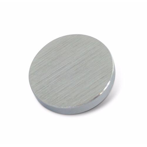 Flat Screw Cover Head Polished Chrome 15mm Dia.