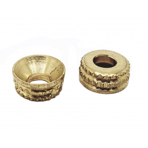 Screw Cups Recessed Turned  Brass  No 7/8