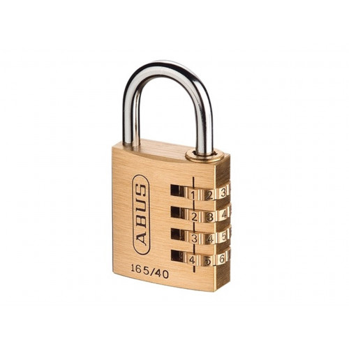 Abus Combination Padlock 165/40 Brass 40mm