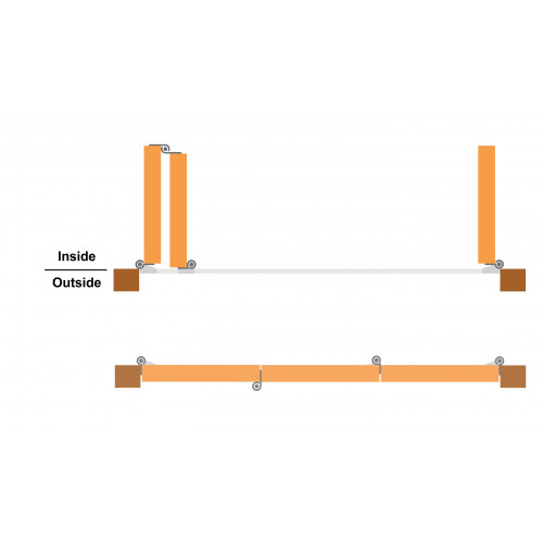 Tommafold 60 Inward Opening Bifold Kit, 2 Left + 1 Right, Up to 2.15m height, SSS